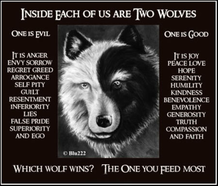 Good and bad wolves
